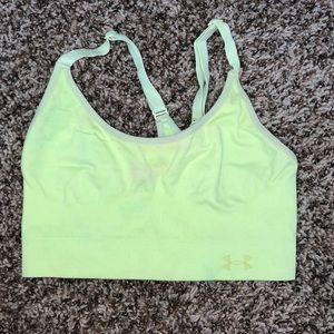 Lime green under amor sports bra